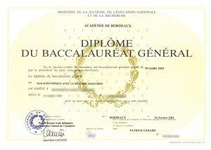 baccalauréat d'enseignement général